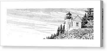 Bass Harbor Light Canvas Print by Philip LeVee