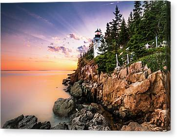 Bass Harbor Lighthouse Sunset Canvas Print