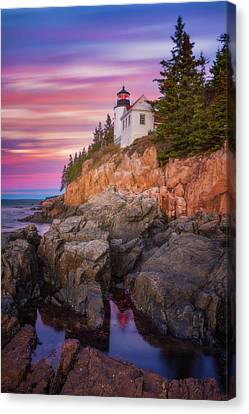 Canvas Print featuring the photograph Bass Harbor Sunrise by Darren White