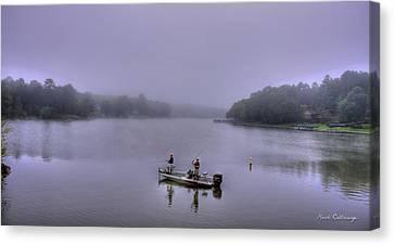 Bass Masters Lake Oconee Fishing Art Canvas Print by Reid Callaway