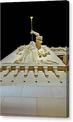Cliburn Canvas Print - Bass Performance Hall Angel by Linda Unger