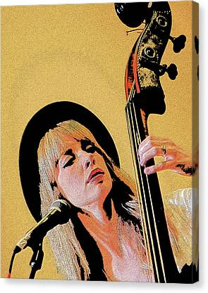 Canvas Print featuring the photograph Bass Player by Jim Mathis