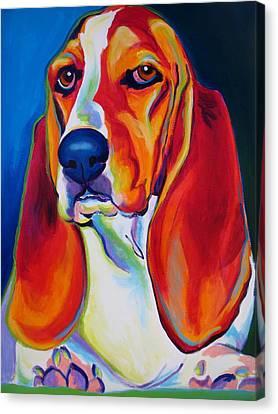 Basset Hound - Maple Canvas Print