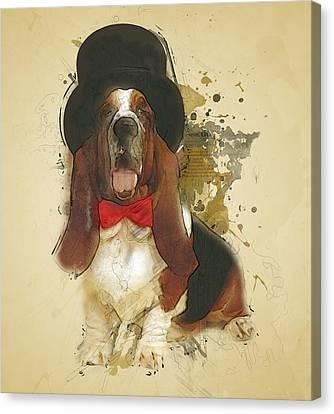 Animal Artist Canvas Print - Basset Hound by BONB Creative