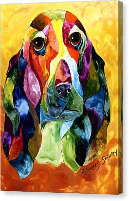 Basset Hound Blues Canvas Print