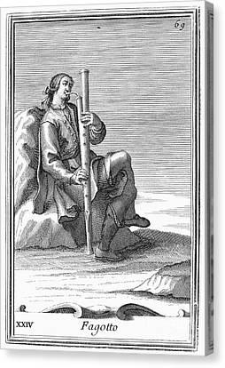 Bassoon, 1723 Canvas Print by Granger