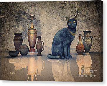 Bastet And Pottery Canvas Print