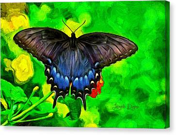 Bat Butterfly - Da Canvas Print by Leonardo Digenio