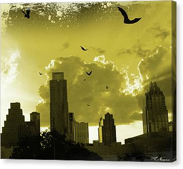 Bat City Canvas Print by Andrew Nourse