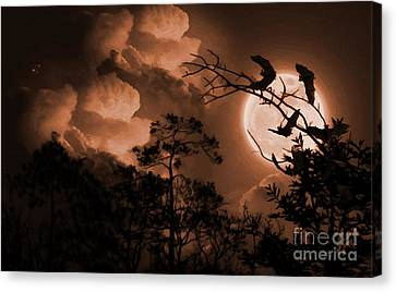 Bat In The Dark-a Canvas Print by Gull G