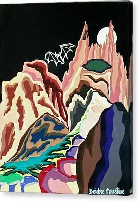 Cave Art Canvas Print - Bat Mountain by Deidre Firestone