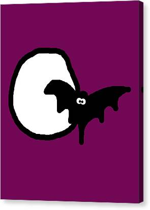 Bat N Moon Canvas Print by Jera Sky