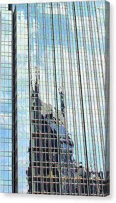 Nashville Tennessee Canvas Print - Bat Tower Reflected by Kristin Elmquist