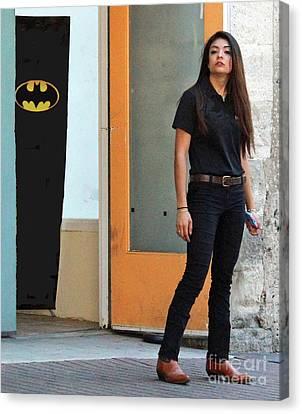 Bat Woman Canvas Print