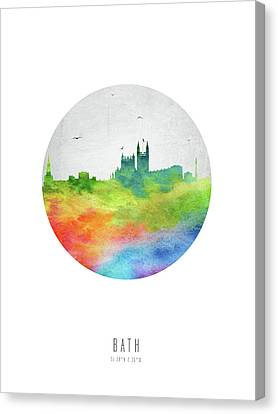 Bath Skyline Gbba20 Canvas Print by Aged Pixel