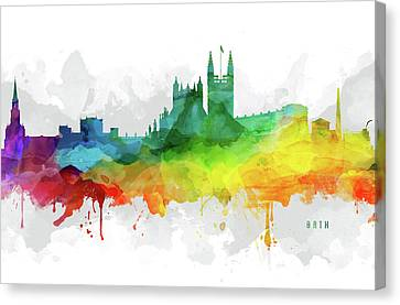 Bath Skyline Mmr-gbba05 Canvas Print by Aged Pixel