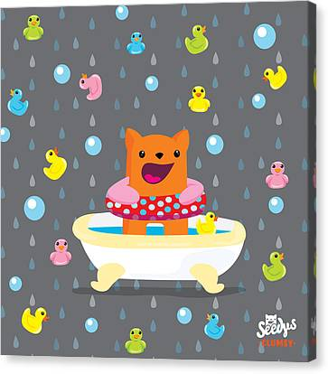 Children Canvas Print - Bath Time  by Seedys