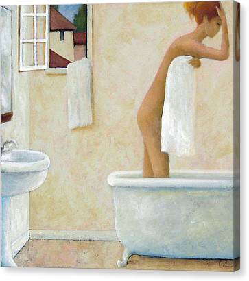 Bather Canvas Print by Glenn Quist