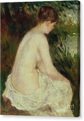 Bather Canvas Print by Pierre Auguste Renoir