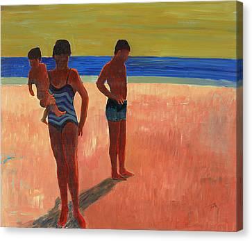 Bathers 88 Canvas Print