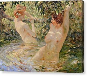 Bathers Canvas Print by Pierre Van Dijk