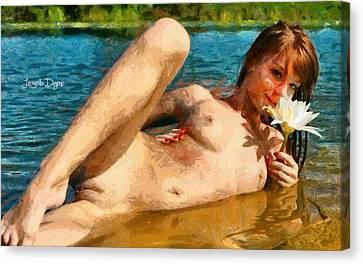 Bathgirl - Da Canvas Print