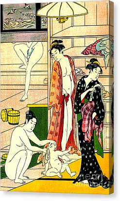 Torii Canvas Print - Bathhouse Women II 1780 by Padre Art