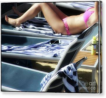Bathing In Pink  Canvas Print by Steven Digman