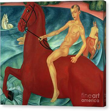 Bathing Of The Red Horse Canvas Print by Kuzma Sergeevich Petrov-Vodkin