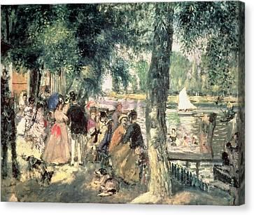 Bathing On The Seine Or La Grenouillere Canvas Print by Pierre Auguste Renoir