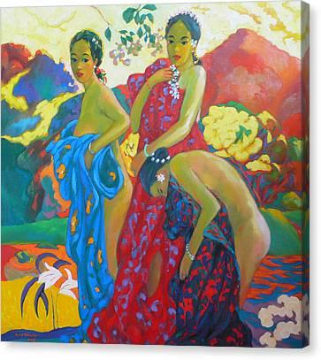 Bathing4 Canvas Print by Tung Nguyen Hoang