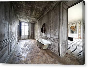 Bathroom Decay - Urban Exploration Canvas Print by Dirk Ercken