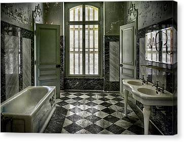 Bathroom In The Chateau Lumiere Canvas Print