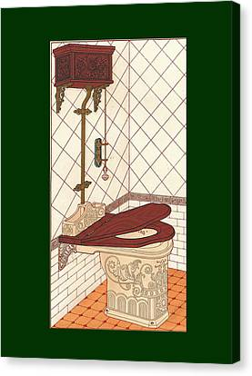 Bathroom Picture One Canvas Print by Eric Kempson