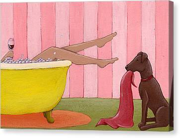 Bathtime Canvas Print by Christy Beckwith