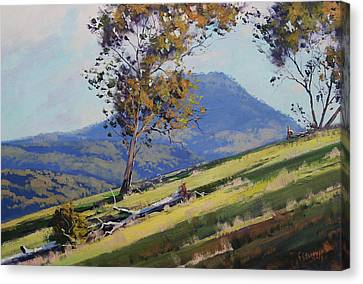 Bathurst Hillside Canvas Print by Graham Gercken