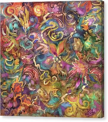 Batik Colorburst Canvas Print
