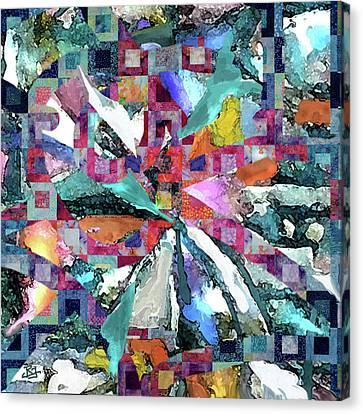 Batik Overlay Canvas Print
