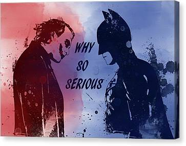Heath Ledger Canvas Print - Batman And Joker by Dan Sproul
