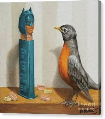 Batman And Robin Canvas Print by Judy Sherman
