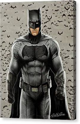 Batman Ben Affleck Canvas Print by David Dias