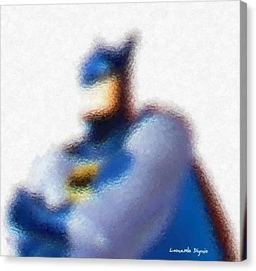 Human Canvas Print - Batman - Da by Leonardo Digenio