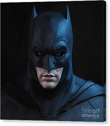 Batman Canvas Print by Paul Tagliamonte