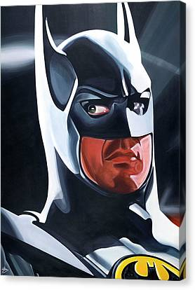 Dc Universe Canvas Print - Batman, The Dark Knight by Gary DeStefano