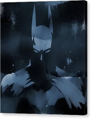 The Dark Knight Rises Canvas Print - Batman Watercolor Splatter by Dan Sproul
