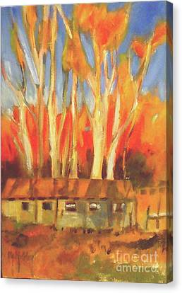 Batsto Coop Canvas Print by Mary Hubley
