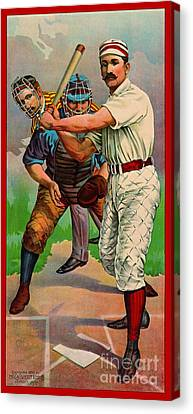 Batter Up 1895 B Canvas Print by Padre Art