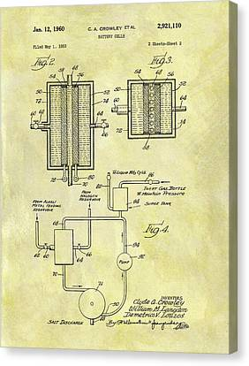 Battery Cell Patent Canvas Print