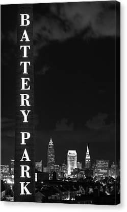 Battery Park Cleveland Skyline Canvas Print