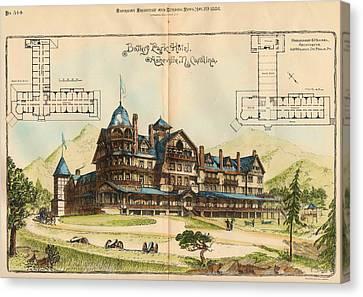 Battery Park Hotel. Asheville Nc. 1886 Canvas Print